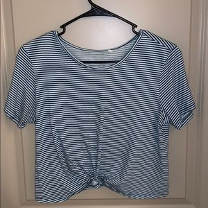 PacSun basics cropped striped tee